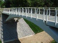Мост из композитных материалов в парке 50-летия октября