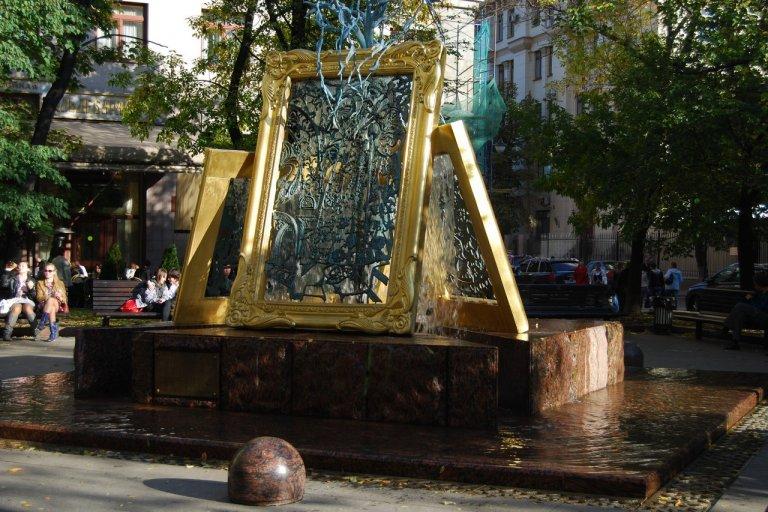 """Фонтан """"Вдохновение"""" в Лаврушенском переулке"""